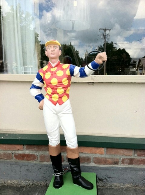 The little guys are every where. Happy 150 Saratoga Racetrack.