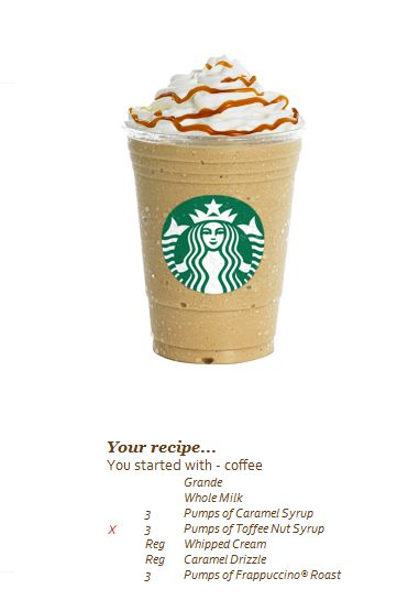 this is the recipe for a Butterbeer Frappuccino. So go to Starbucks and order one. Like now.