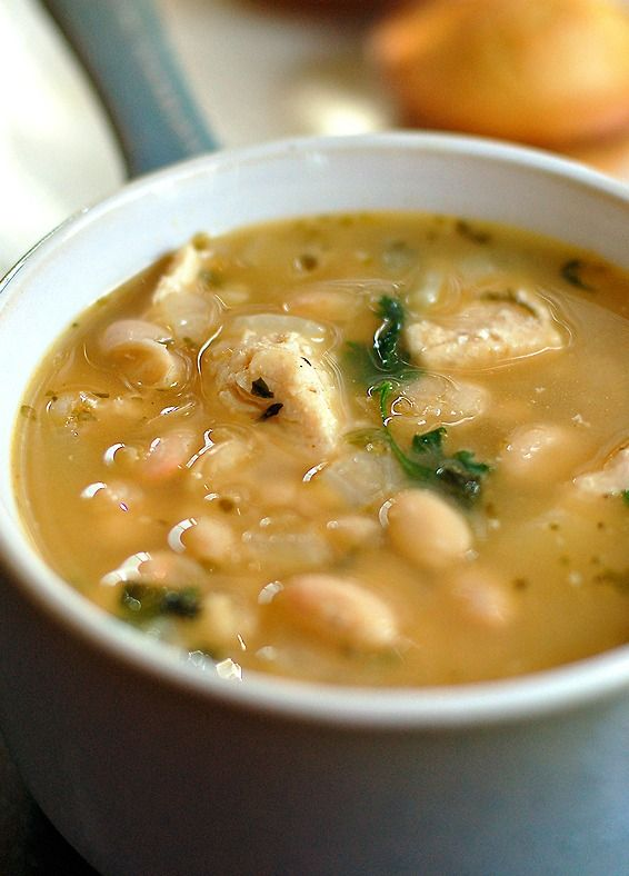 White Bean Chicken Chili Recipe - This lighter chili is a family favorite and easy!