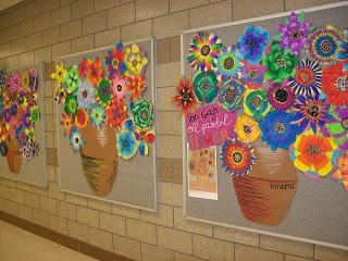 """Students could each make a flower...display """"We make a beautiful bunch"""""""