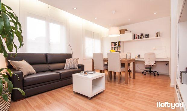 #proyectoserraiarola #iloftyou #interiordesign #ikea #barcelona #livingroom #diningroom #lowcost #besta #micke #lack