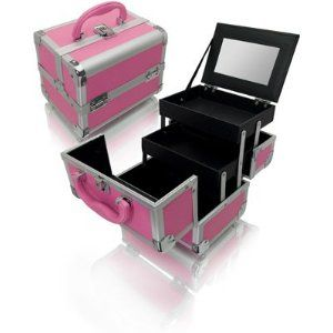 This looks great for Competitive Dance ... Yes, I'm a dance mum.  {Pink Cosmetics Tray}Minis Dog Qu, Makeup Training Cases, Mirrors Seya, Pink Minis, Thoughts Httpamzntoh7Iuid, Seya Pink, Minis Training, Pink Caboodles, Jazz Pink