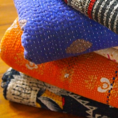 Kantha Throws..beautiful throws that are so comfortable!