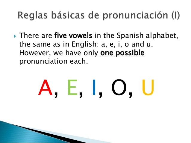  There are five vowels in the Spanish alphabet,  the same as in English: a, e, i, o and u.  However, we have only one pos...