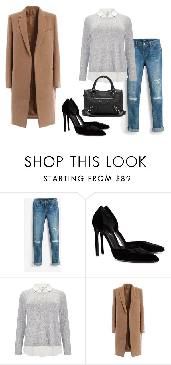 stylish by missmikey on Polyvore featuring Studio 8, White House Black Market, Yves Saint Laurent and Balenciaga