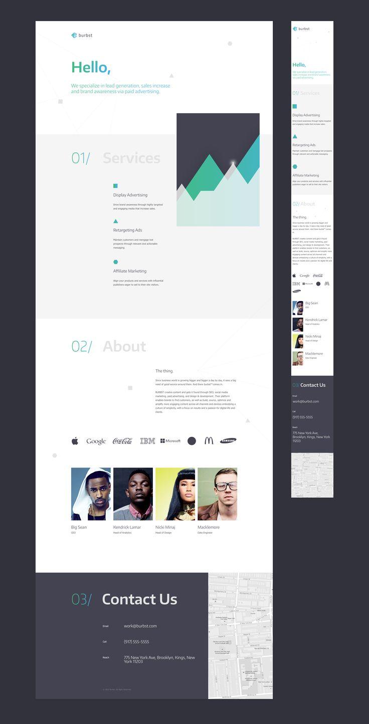 Burbst web desktop mobile