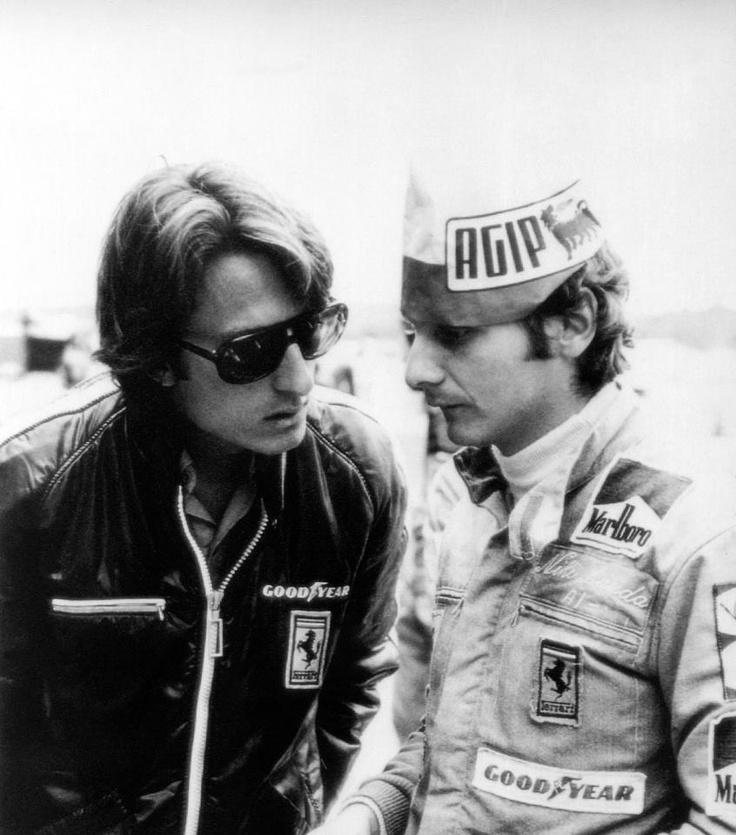 Niki Lauda and Luca di Montezemolo
