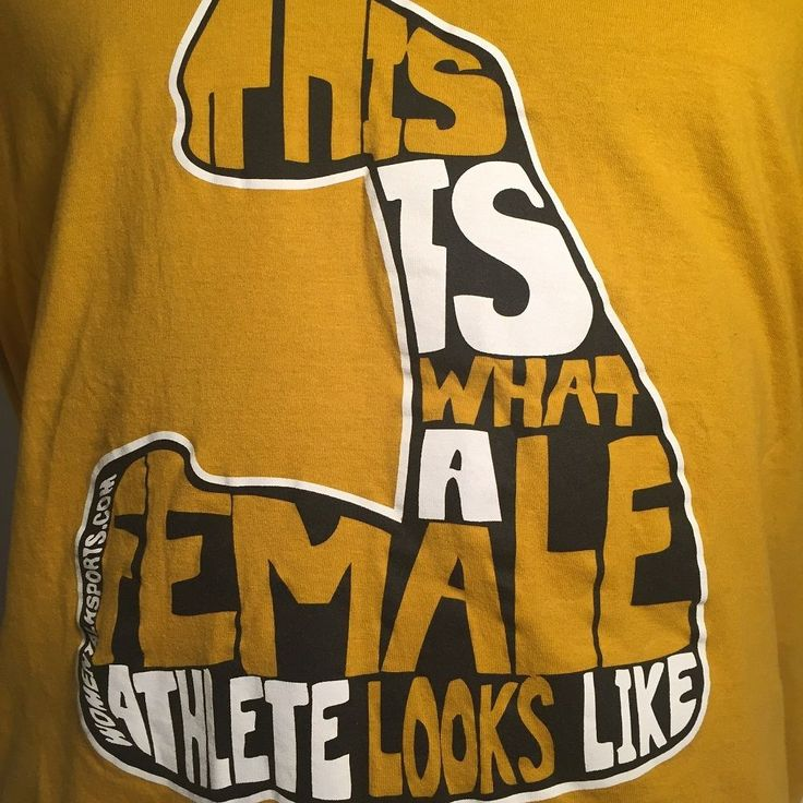 This Is What A Female Athlete... T-Shirt Yellow/Gold Size L Women's 100% Cotton #MCXFlyiingCow #GraphicTee