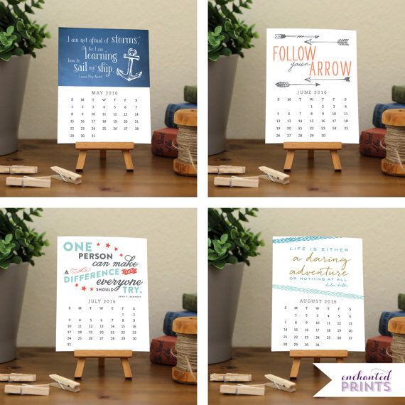 2017 Desk Calendar Professionally Designed And Delivered As A Pdf File For You To Print