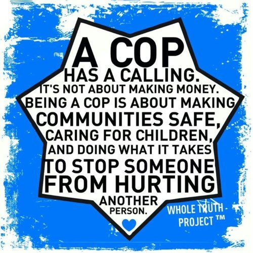 A cop has a calling! (see poster) Please share and tag this important reminder - and help to pass this positive message about police officers forward! Thank you!