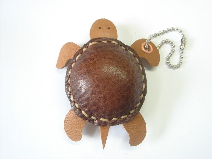 Winny the Turtle Thick Leather Charm ( Brown ). $19.90, via Etsy.