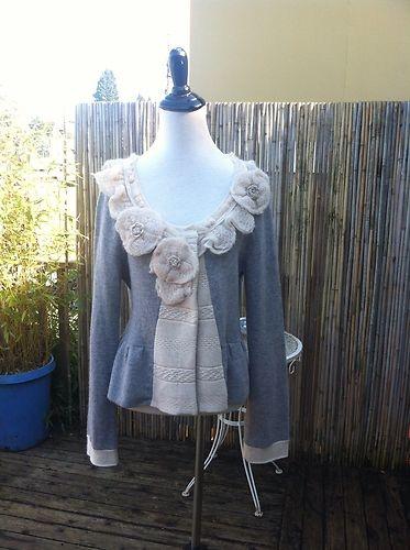 NWOT Anthropologie Dressage Sweatercoat Sz M - Field ...