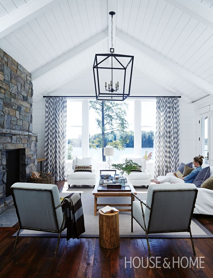 Tour A Dream Cottage On Lake Muskoka. Cottage Living RoomsWhite ...