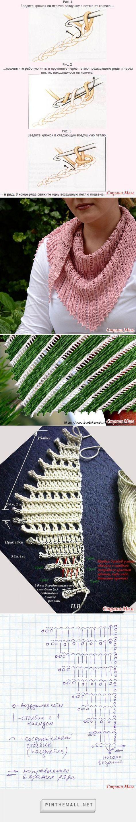 Crochet Bosnian baktus