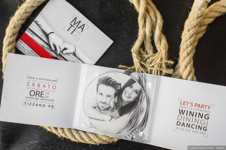 Partecipazioni di nozze a forma di CD e come cover di CD