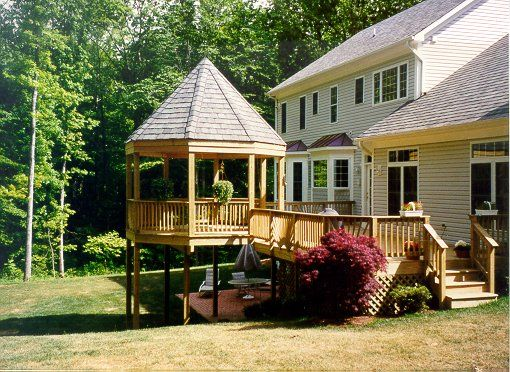 38 best images about decks and gazebos on pinterest for Decks and gazebos