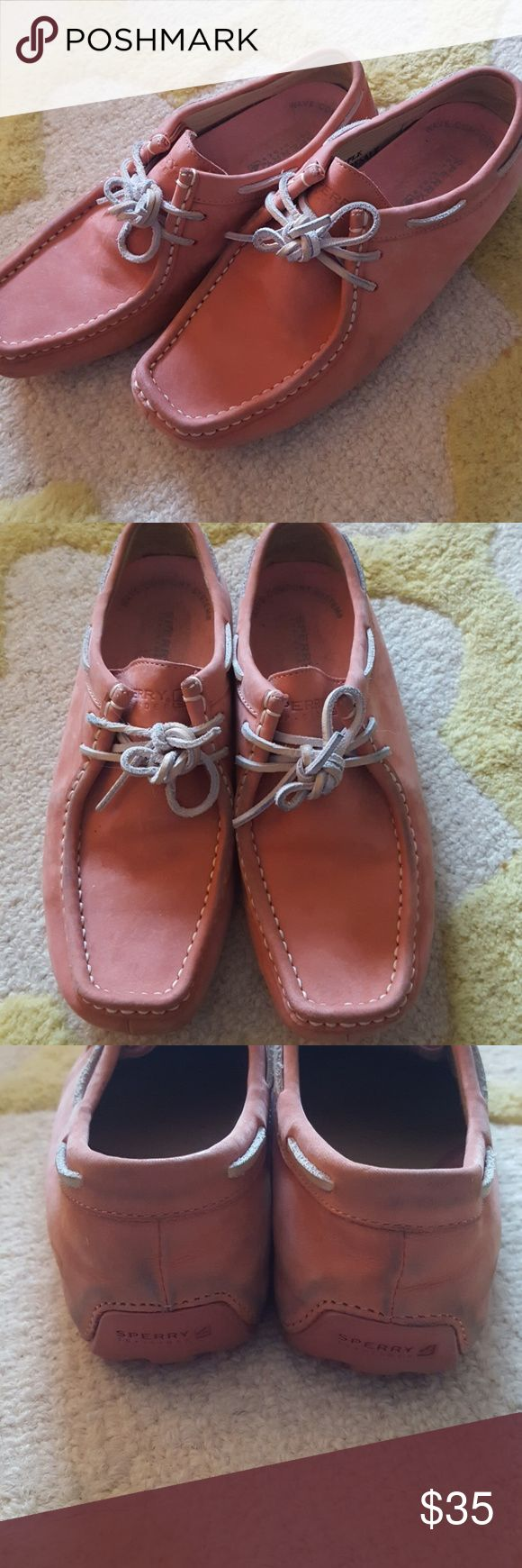 Sperry Mocasines Super cute and comfy pre-loved Sperry Mocasines. Some signs of wear (see picutres) These were from a sample sale. Sperry Shoes Moccasins
