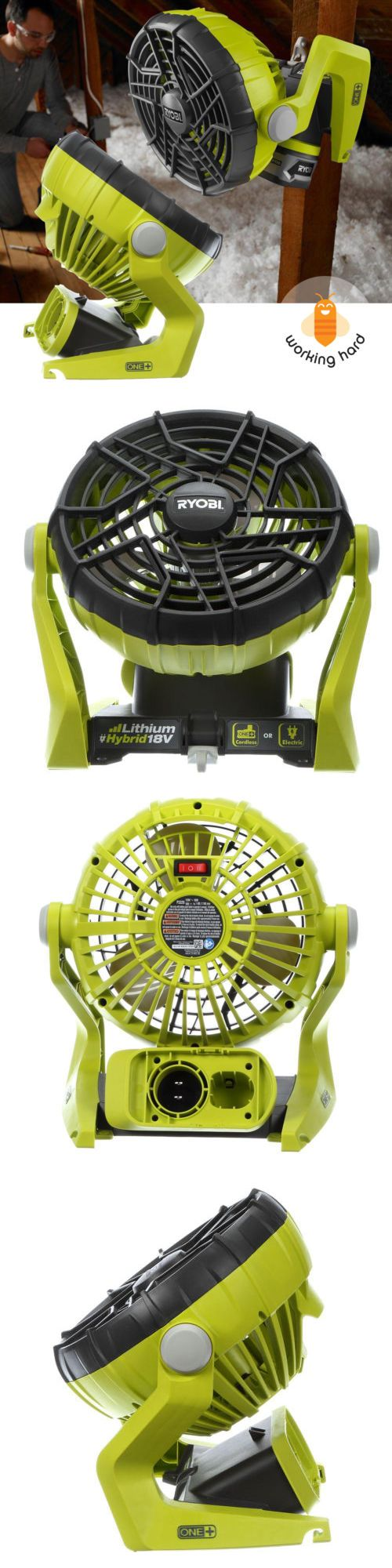 Portable Fans 20612: Hybrid Portable Fan Ryobi Indoor Outdoor Cooling Cordless Battery Powered Compac -> BUY IT NOW ONLY: $51.5 on eBay!