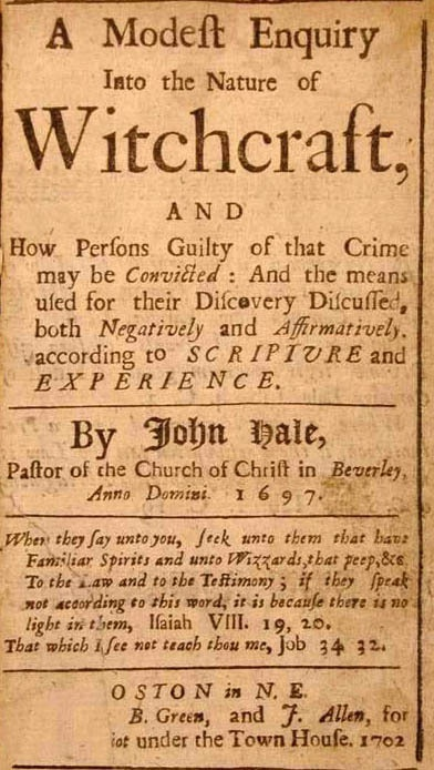 Reverend Hale's Sure-Fired Recipe for Witchcraft