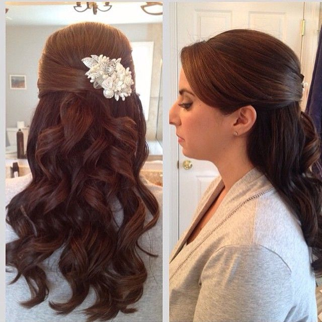 Top 20 Fabulous Updo Wedding Hairstyles: 15 Fabulous Half Up Half Down Wedding Hairstyles