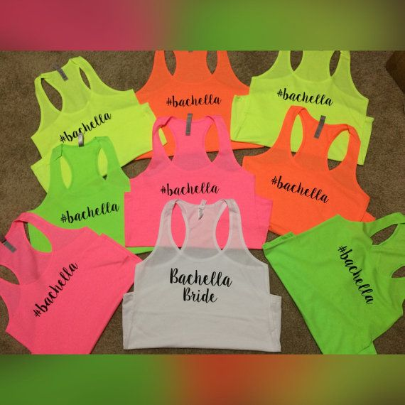 1 Neon Bridal Party Tank Top. Bachelorette Party by LadiesOnPalace