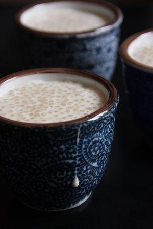 Tapioca au lait à la vanille