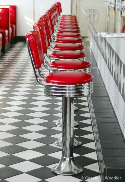 """❤ Soda fountain... Where I first fell in love w/ my future husband at the Drug Store soda fountain.  He mixed a fab Vanilla phosphate! Thanks Honey for being such a """"jerk"""". ;)  ..Soda Jerk.."""