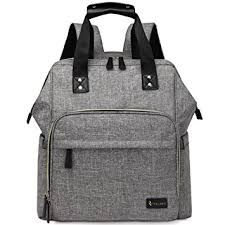 Image result for Large Diaper Bag Backpack Multifunction Travel Back Pack for Mom and Dad, Stylish Baby Nappy Bags with Changing Pad, Insulated Pocket and Stroller Straps (Heater Grey) https://www.amazon.com/dp/B074184DKD/ref=cm_sw_r_cp_api_MwN.zbFZAFBB4