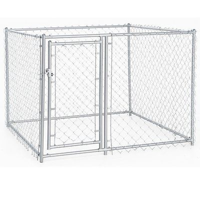Chain Link Dog Kennel - Lucky Dog Outdoor Heavy Duty Pet Kennel - This Pet...