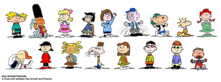 Hey Arnold And Peanuts Crossover Art Craig Bartlett Has Said Arnolds