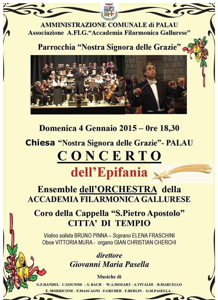 Concerto dell'Epifania Ensemble dell'orchestra della Accademia Filarmonica Gallurese  4 gennaio