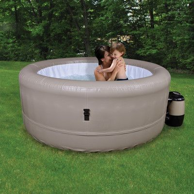 Radiant Saunas 4 Person Simplicity Inflatable Spa U0026 Reviews | Wayfair