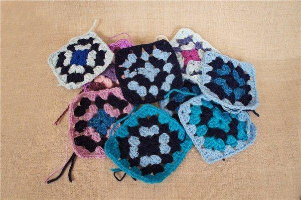 Delicadezas en crochet Gabriela: Gorro y cuello con retazos de lanas de colores y nuestra inventiva