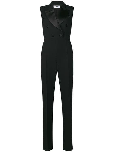 ed75c2b19ad MSGM Sleeveless Blazer Style Jumpsuit in 2019