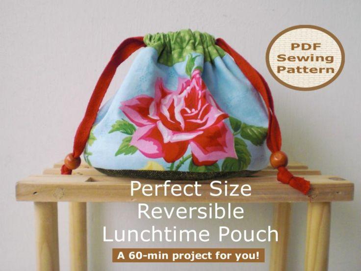 Drawstring Pouch - pdf bag sewing pattern