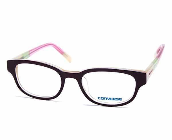 Rama ochelari Converse Q005 Burgundy multicolor este confectionata din acetat si are urmatoarele dimensiuni: Latime lentila (mm): 51; Latime punte (mm): 18; Lungime brat (mm): 140.