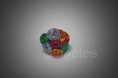 Las creaciones de @ngeles: Anillo de alambre de colores