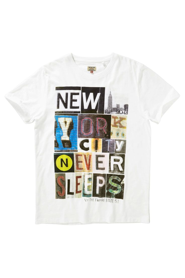 Design t shirt online uk - Buy White Ny Never Sleeps Print T Shirt From The Next Uk Online Shop