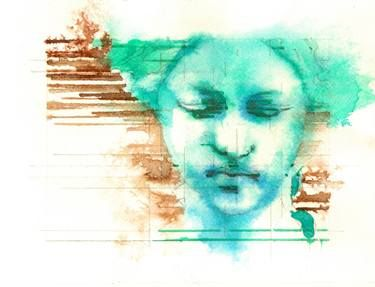 "Saatchi Art Artist Pavel Kasparek; Drawing, ""Interpretation I Dreamy Maiden"" #art"