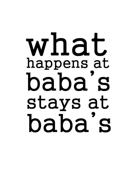 What happens at Baba's 8x10 art print instant download Ukrainian Serbian Czech funny sign