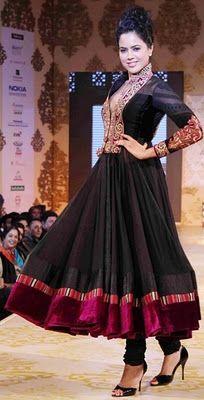 Sameera Reddy in Manish Malhotra's  Anarkali Dress