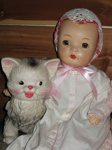 Horsman Doll And Edward Moberly Squeak Kitty Dolls Kitty And Vintage Dolls