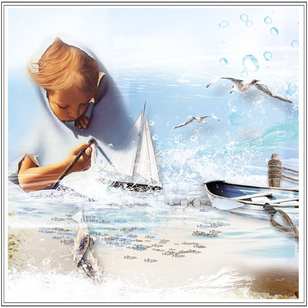 """kit """"Sea Voices"""" by Sekada designs http://store.scrapgirls.com/Sea-Voices-Collection.html"""
