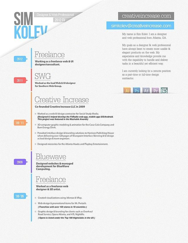 26 best CV images on Pinterest Design resume, Resume design and - resume builder websites