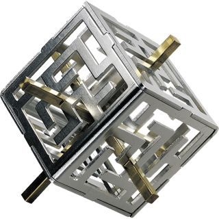 Oskar's Maze metal puzzle brainteaser.
