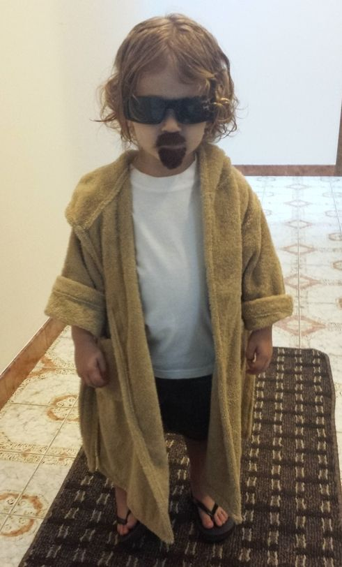 """The Dude from """"The Big Lebowski"""" and other rad kid (a and baby) costumes....funny!! Check it out!"""