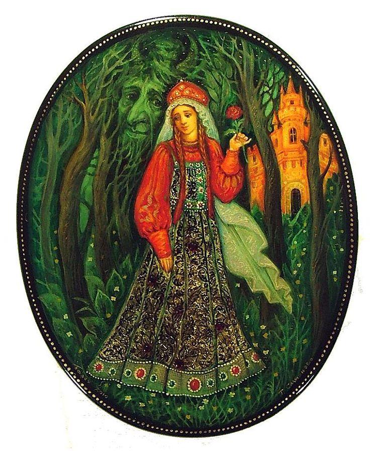 The Scarlet Flower (2010) from Palekh by Tatyana Smirnova