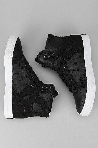 """UrbanOutfitters.com > Supra Perforated Leather Skytop Sneaker"" like a set of shoes I have now lol"