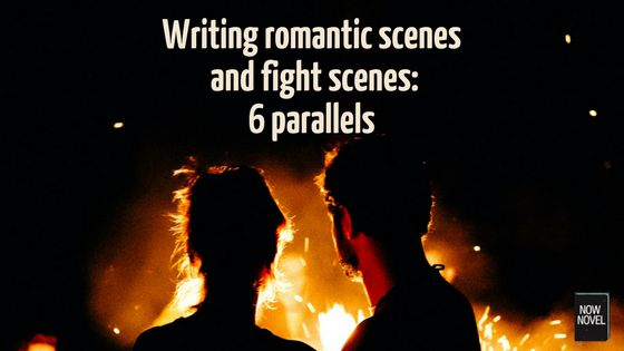 Writing romantic scenes and fighting scenes involves common elements (tension, structure, aftermaths). Read tips for using scene elements well.
