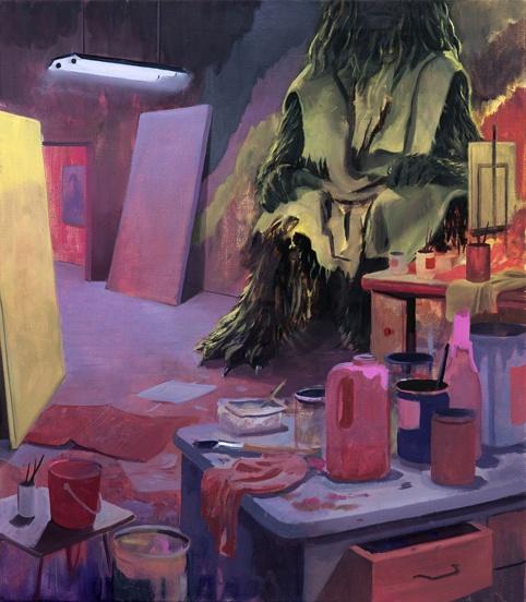"""Tilo Baumgartel, """"Untitled"""", Oil on canvas, 80x70cm, 2012."""